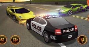 Chasse de voiture de police