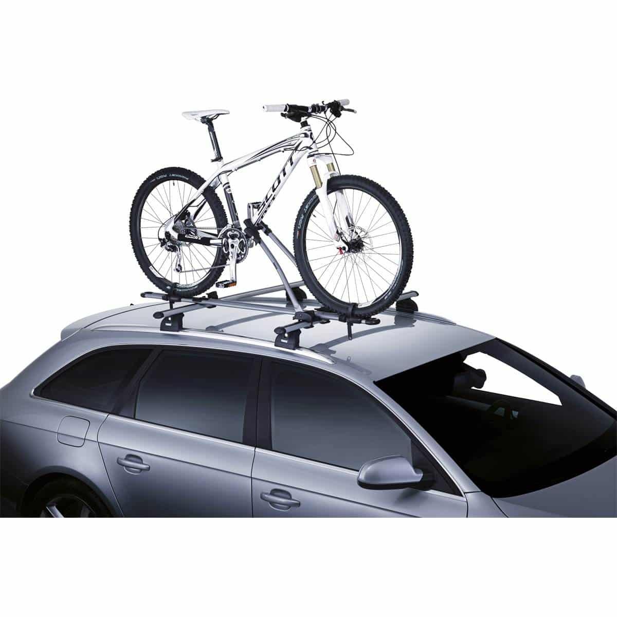 Un porte vélo sur voiture