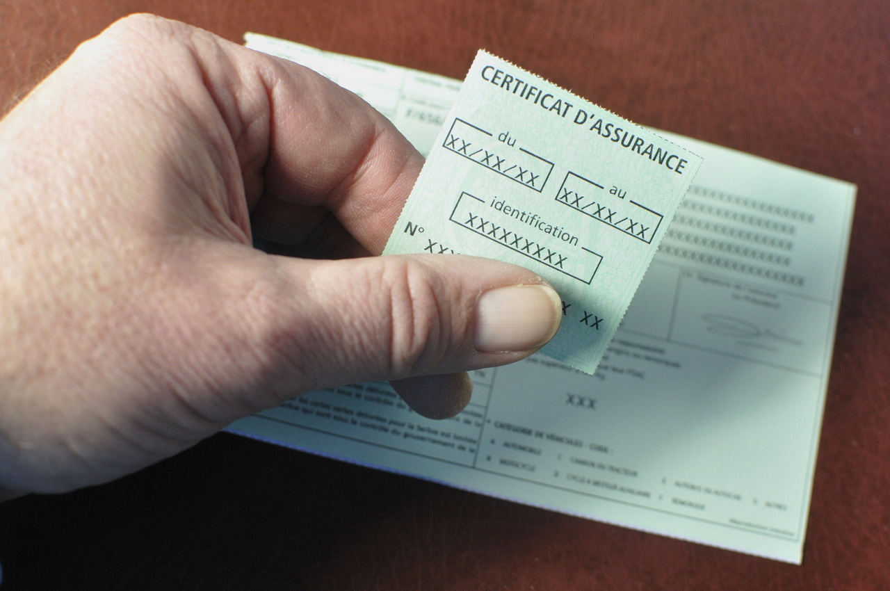 Certificat d'assurance auto